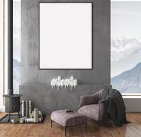 frame mockup room wall photo