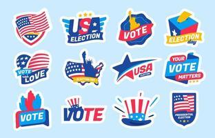 Pegatina de conjunto de elecciones generales de América vector