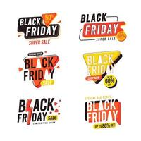 Black Friday Sticker and Badge Sale Collection vector