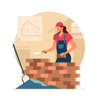 Female Construction Worker vector