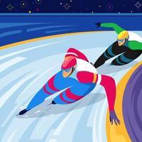 Speed Skating Race Illustration vector