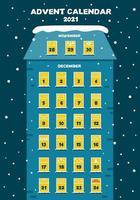 advent calendar house with windows vector