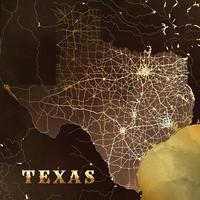 Texas Map Background in Brown Gold Design vector