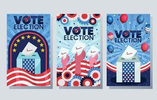 conjunto de colección de pancartas de elecciones generales de EE. UU. vector