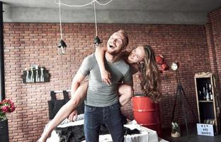 A young couple is a boyfriend and girlfriend who enjoys each other photo