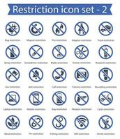 Restriction Icon Set 2 vector