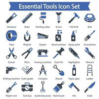 Essential Tools icon set vector