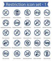 Restriction Icon Set 1 vector