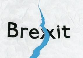 Brexit on torn paper photo