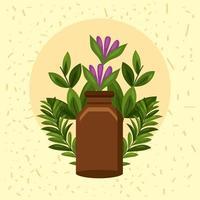 bottle essential oil vector