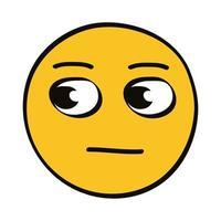 Thoughtful emoji character vector