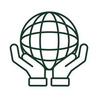 hand lifting sphere vector
