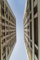 view of a building in a Counter-Plongee perspective in Rio de Janeiro. photo