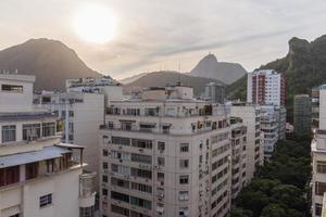 vista del barrio de copacabana en rio de janeiro. foto