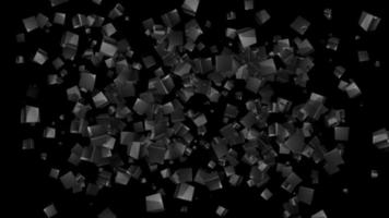 square polygon 3d particle background loop animation video