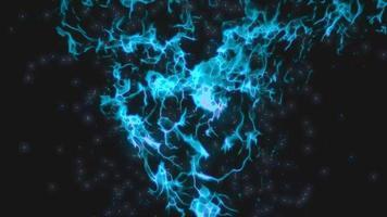blue fractal noise loop background animation video