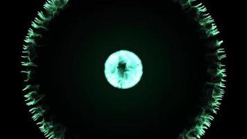 blue circle burst effect loop animation video