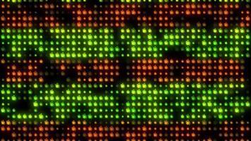 green LED light line loop animation video