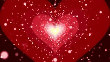 heart particle zoom in loop animation video