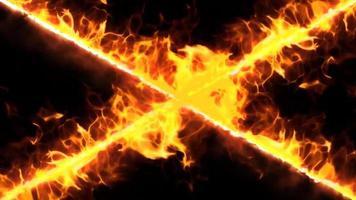 fire cross line loop effect video