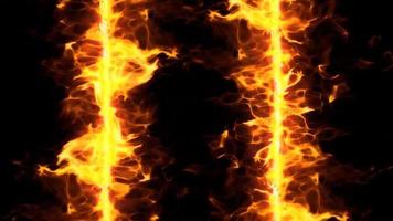 fire flame double line loop effect video