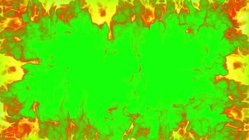 fire frame loop effect green screen video