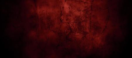 Dark Red horror scary background. Dark grunge red texture concrete photo
