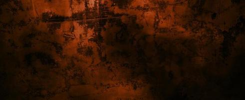 Wall dark scary. Dark cement for background. Horrible wall full of scratches photo