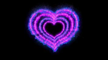 animation de boucle de ligne coeur violet video