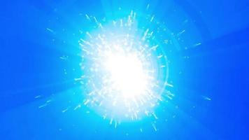 blue light particle background loop animation video
