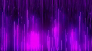 purple light particle line fall background loop animation video