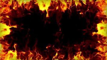fire frame loop effect video