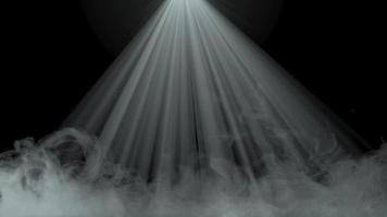 smoke effect with light rays animation video