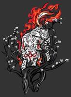 white wolf mythic vector