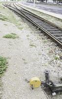 Old train tracks photo