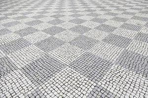 Typical stone floor of Lisbon photo