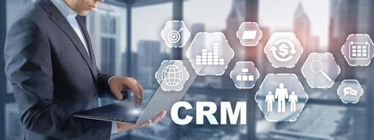 New CRM. Customer relationship management concept 2021 photo