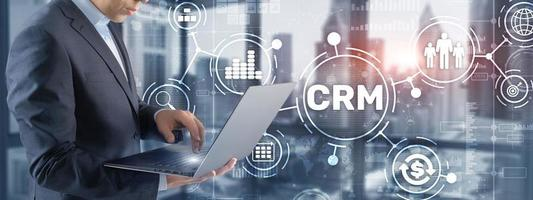 CRM Customer Relationship Management. Customer orientation concept photo