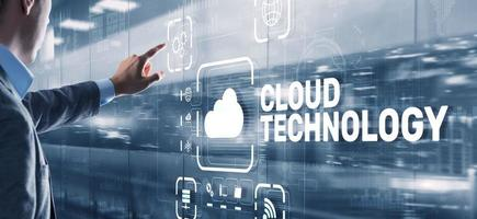 Cloud technology. Networking and internet service concept photo