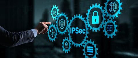 IP Security. Data Protection Protocols. IPSec. Internet and Protection Network concept photo