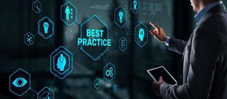 Best Practice Business Technology Internet successful business concept photo