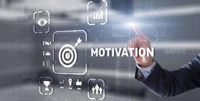 concepto de desarrollo de personalidad de motivación. logrando cualquier objetivo foto