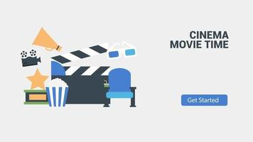 Clean modern animation business infographic video