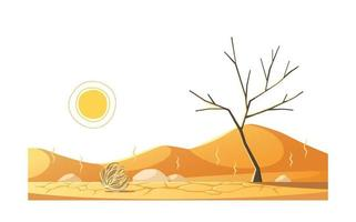 composición de sequía de desastres naturales vector