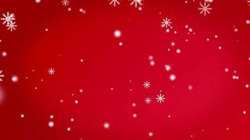 Christmas background with snow video