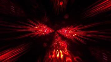 animación estilo cómic rojo nido alienígena túnel hipnótico movimiento. video