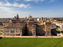 Aerial skyline of Mantua and the medieval castle of Saint George photo