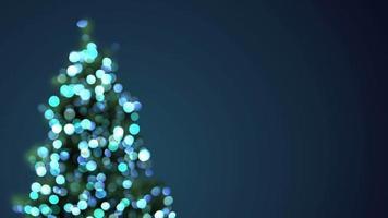 Blurred christmas tree blue lights video