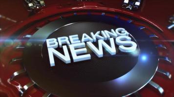 Breaking News intro in 4K video
