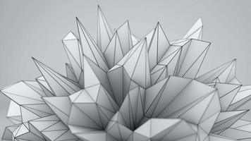 White polygonal shape in studio video